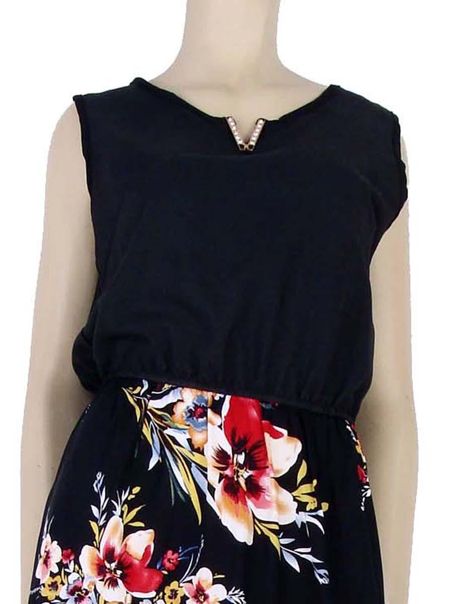 ebd46bfdb Vestido Longo Estampa Floral Hibisco Preto – AMAMODA