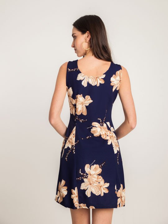 5c0065dca Vestido Malha Constancia Azul – AMAMODA