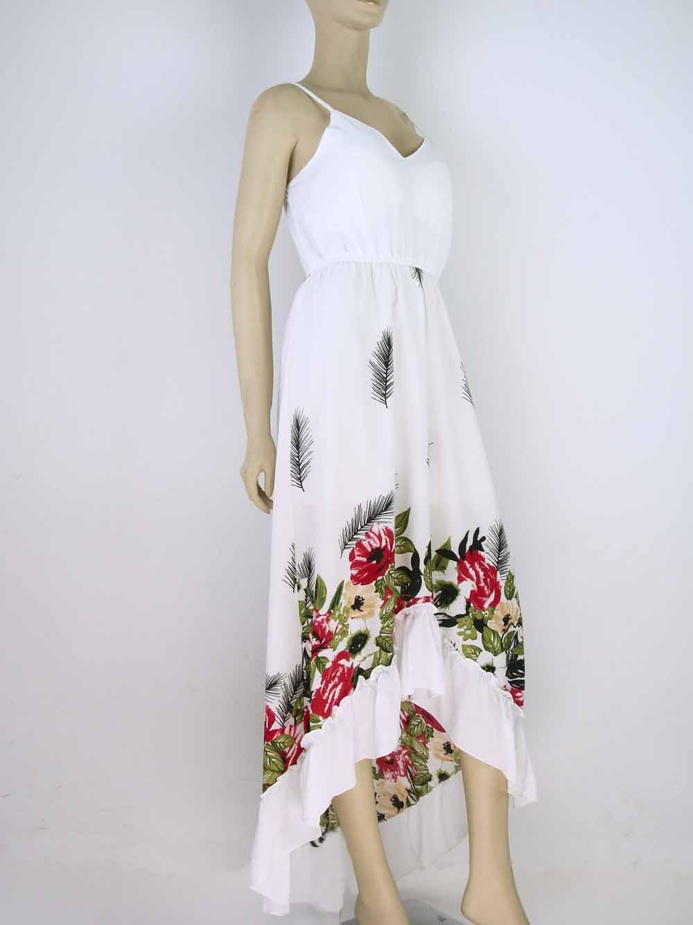 5e3522476 Next. 1; 2; 3. Click to enlarge. 1; 2; 3. Vestido Longo Crepe Estampa  Floral Babado ...