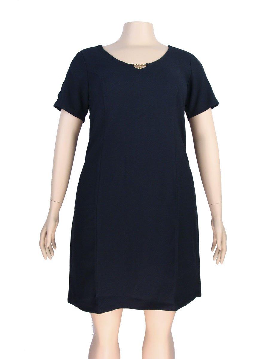 03b7beeb7 Vestido Tubinho Plus Size Malha Crepe Preto – AMAMODA