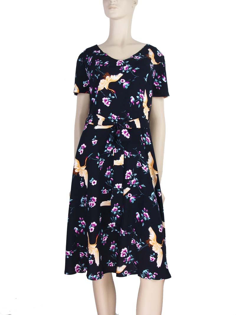 2ca7caf94 Vestido Moda Evangélica Estampa Floral Preto – AMAMODA