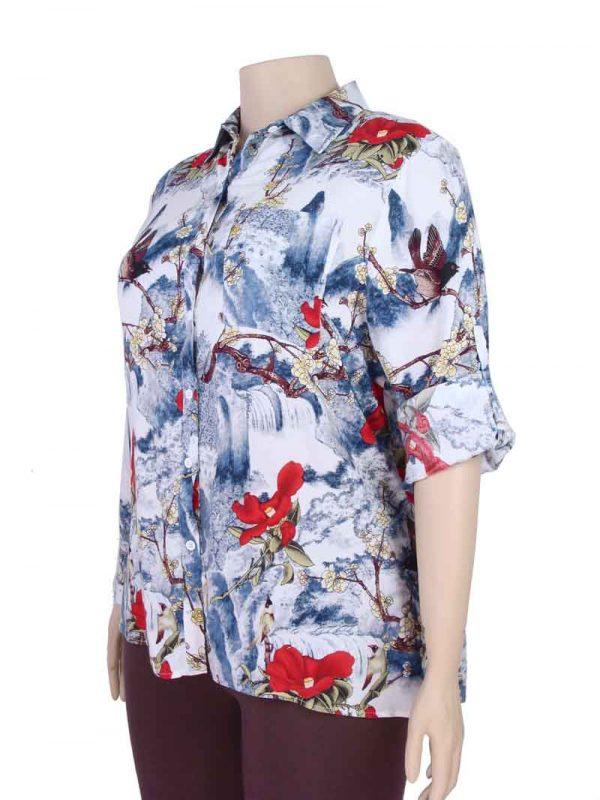 4274ab23e Camisa Feminina Viscose Estampa Mix Pássaros Plus Size Verde. R$37,90.  Clear. Ver opções